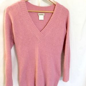bebe Medium Pink Angora Sweater